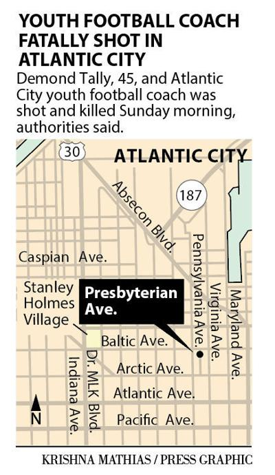 Youth football coach fatally shot in Atlantic City map