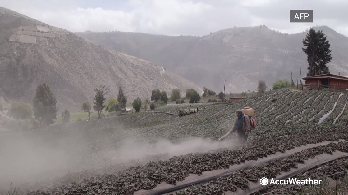 Watch Now: Ecuadorians clear ash after volcano eruption, and more of today's top videos