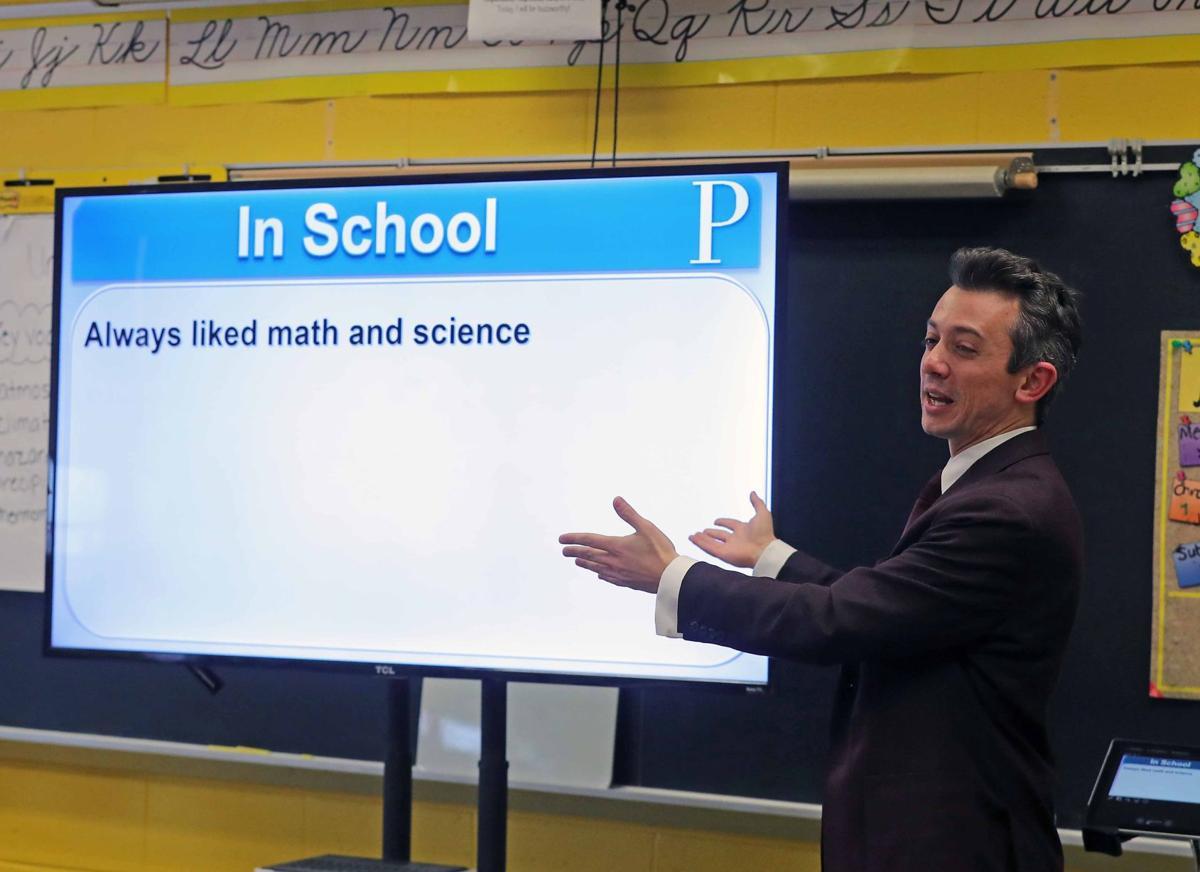 Joe Martucci visits Hess Primary School