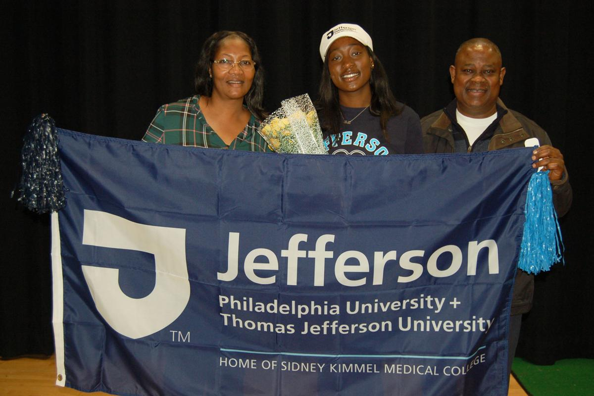 Photo 2 - Atlantic Christian Lola Oguntuase of EHT with parents, commits to Jefferson U for soccer, DSC_0227A