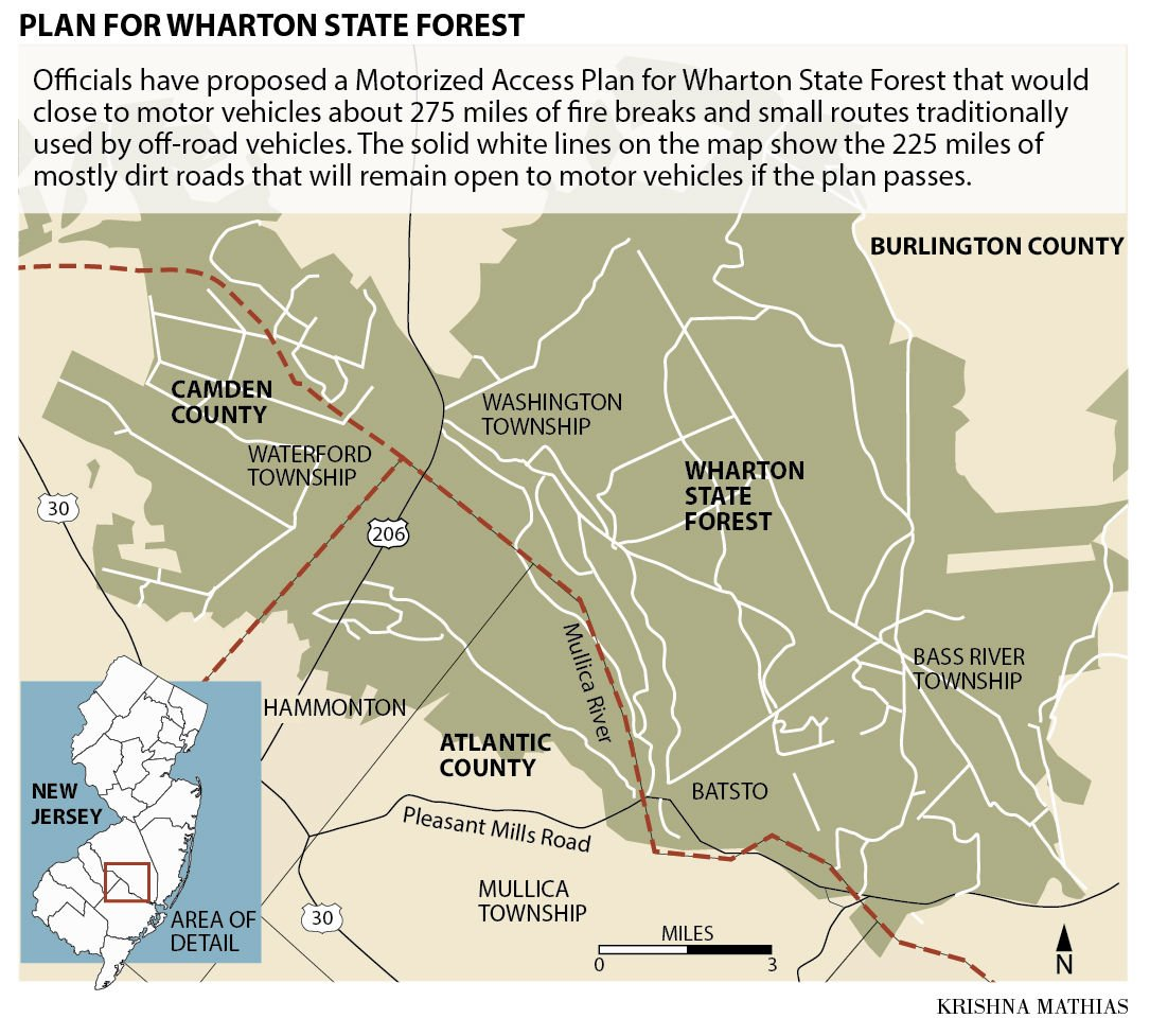 wharton state forest map . man charged with growing pot in wharton state forest  breaking