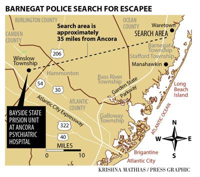 Search for escaped Ancora Bayside inmate 5-2016