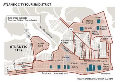 Atlantic City Tourism District map