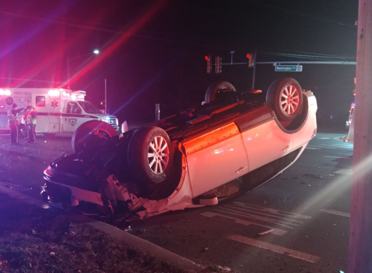 Accident at Fire Road and Washington Avenue