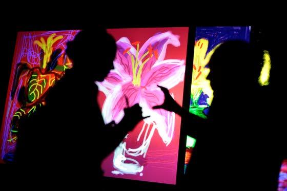 Who needs canvas? David Hockney's latest exhibit features works on iPad instead