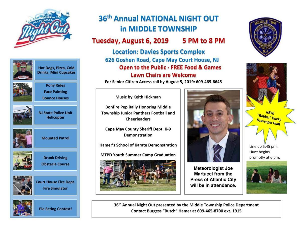 National Night out in Middle Township