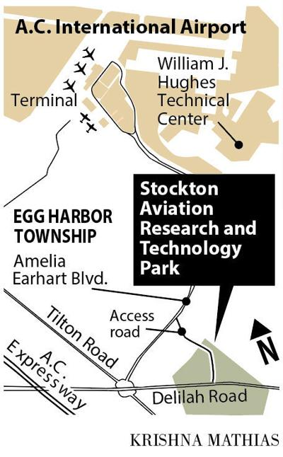 Stockton Aviation Research and Technology Park map
