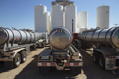 US oil tanker trucks