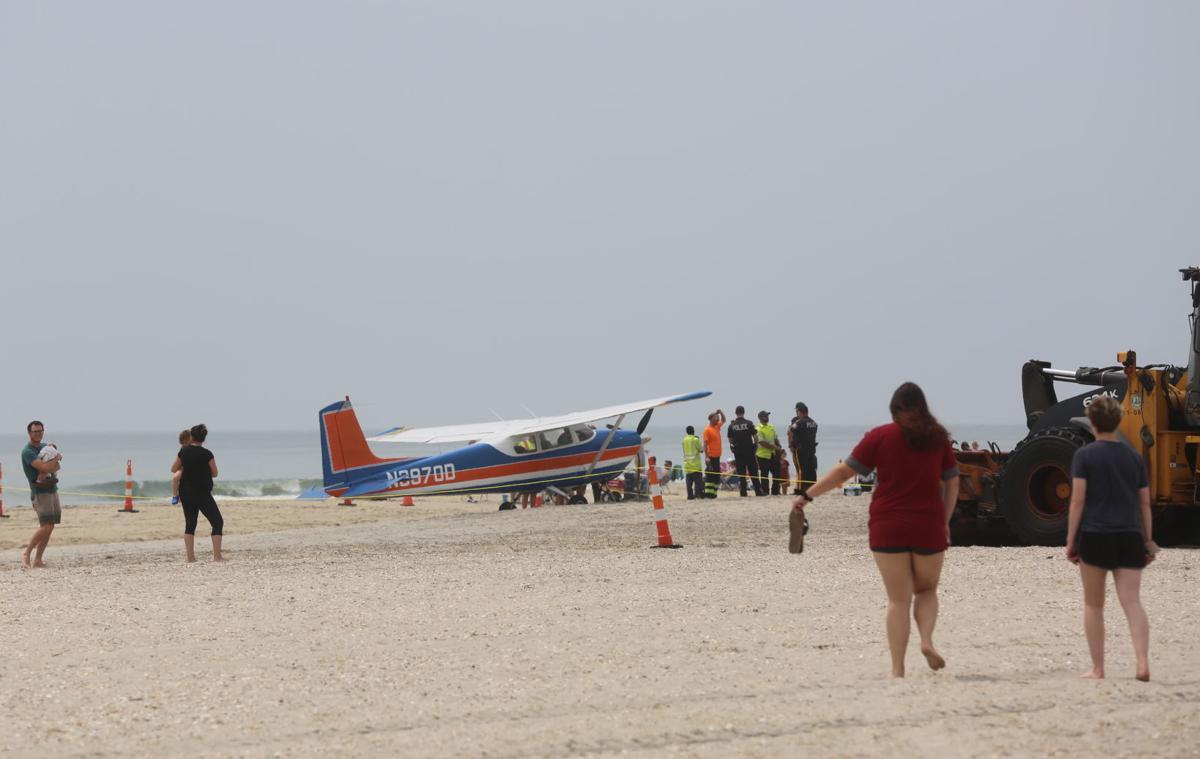 Plane lands on Ocean City beach at 49th Street Saturday, June 1, 2019