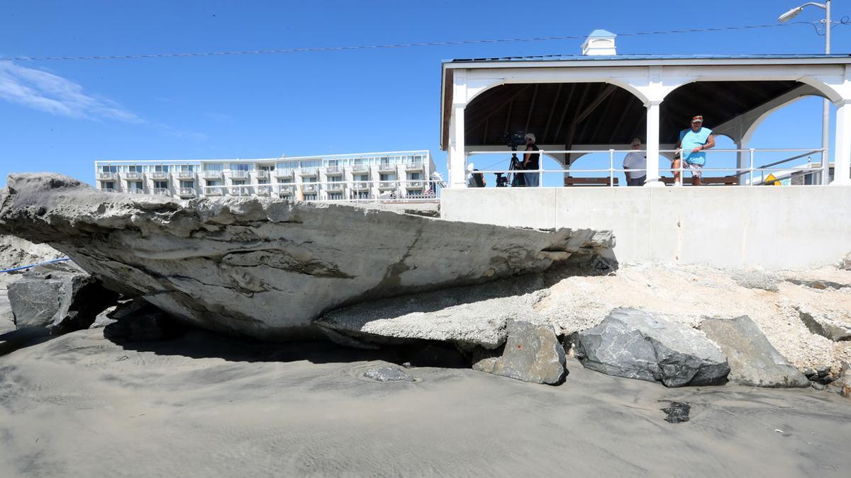 North Wildwood Beach Erosion from Hurricane Jose