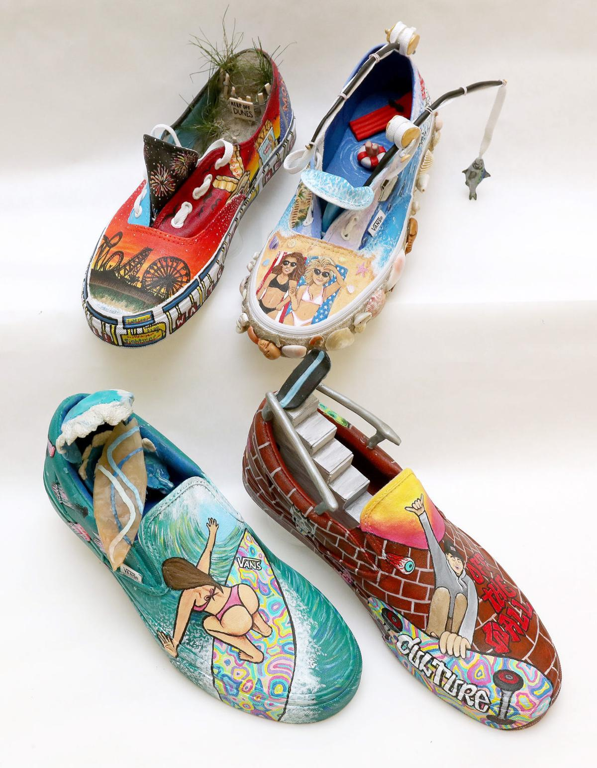7568449dbd1009 Middle Twp. High School students compete in Vans art contest for  75 ...