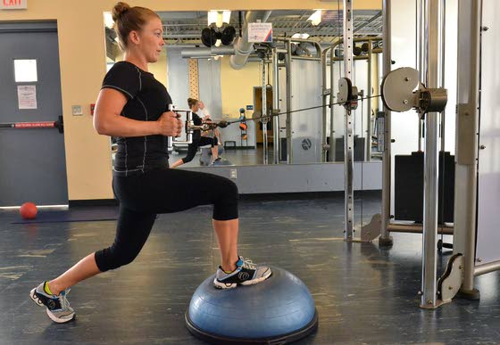 Your Workout: Unstable cable row