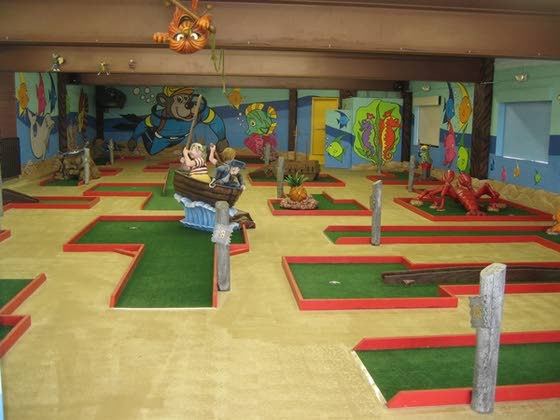 When the weather is rotten, head for cover and some mini-golf fun