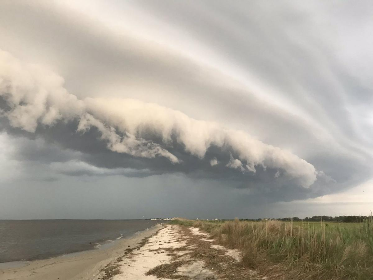 Shelf Cloud Delaware Bay Cape May County Thunderstorm