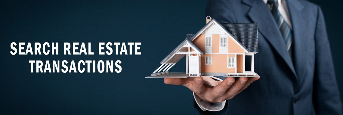 Search real estate transactions