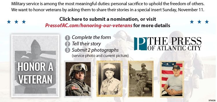Nominate A Veteran for our Honoring Our Veterans special insert