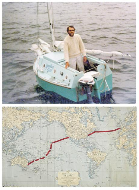 37 years after his trans-Atlantic voyage, where is Gerry