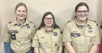 Scouts BSA Troop 65 sees first 3 female Eagle Scouts