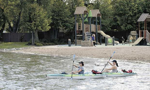 Abundant area beaches offer relief from summer's heat