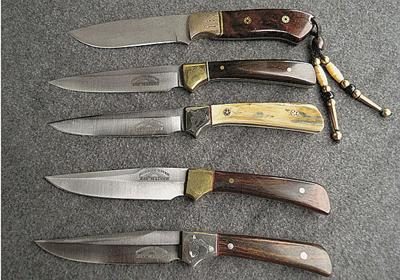 Jay Maines: Baker, bus driver, man of 1,200 knives