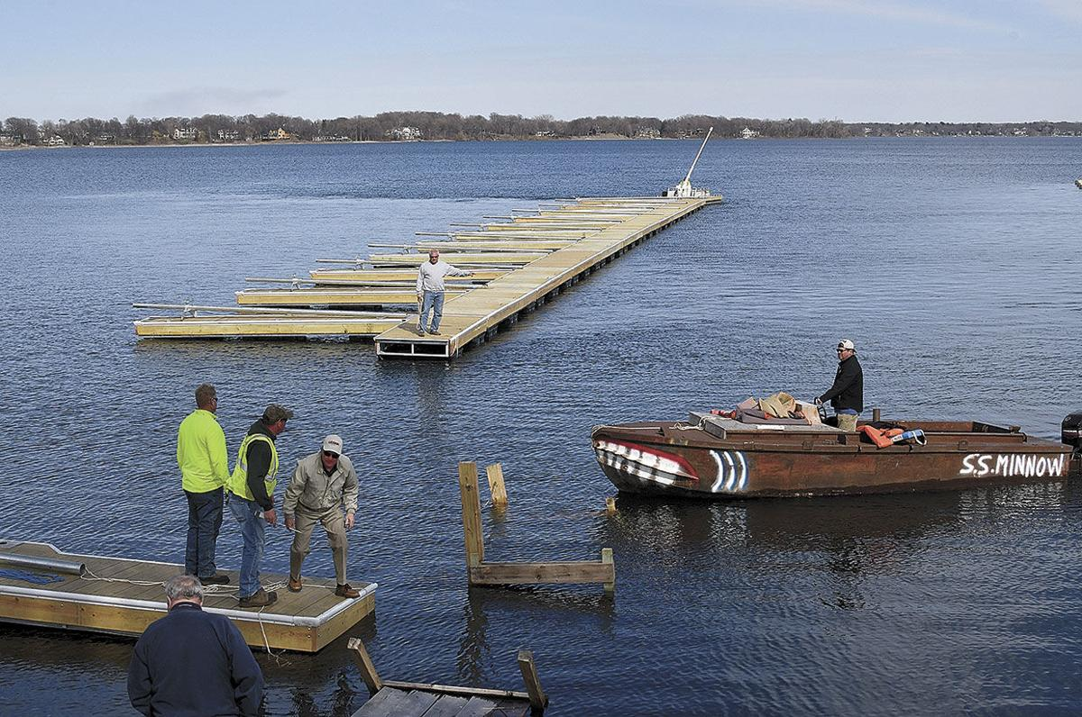 New marina docks begin to take shape