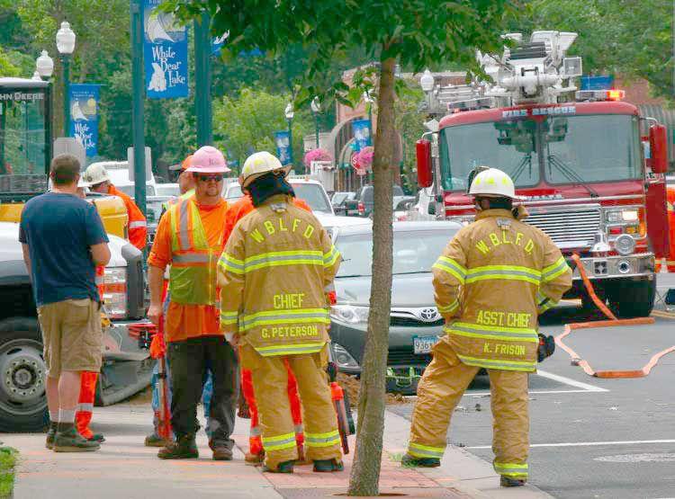 Gas line struck