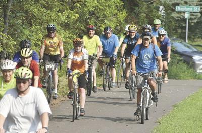 Cycling around White Bear Lake