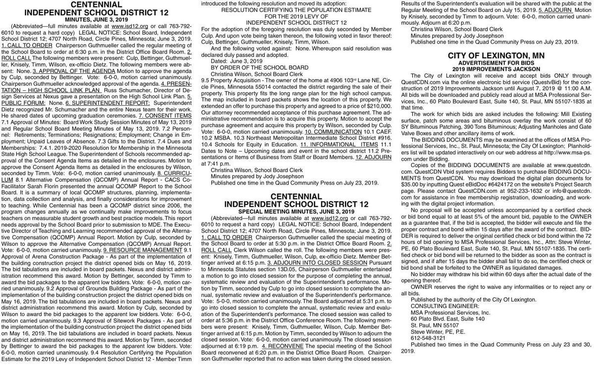 Legals Q 7-23-19