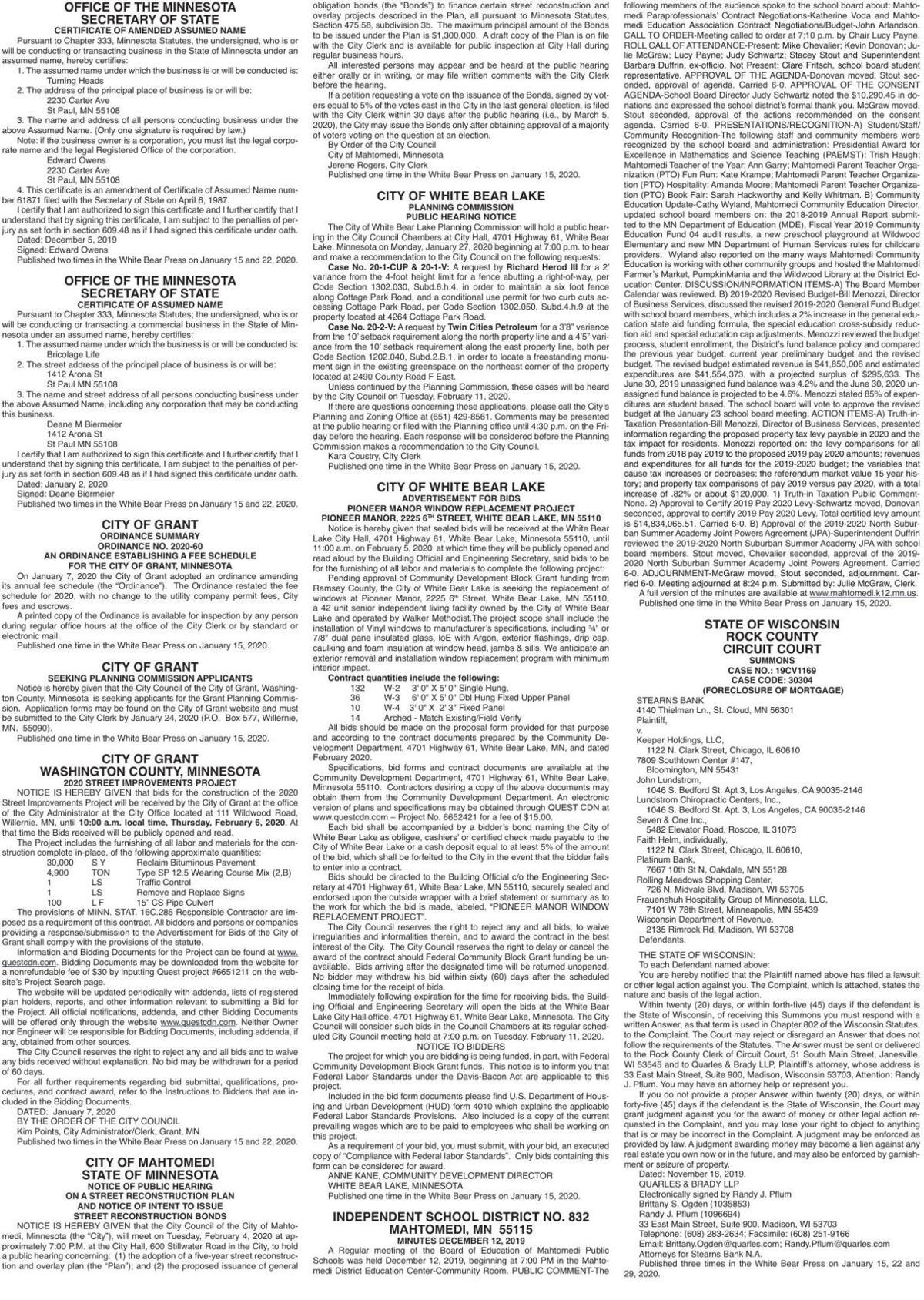 Legals WB 1-15-20