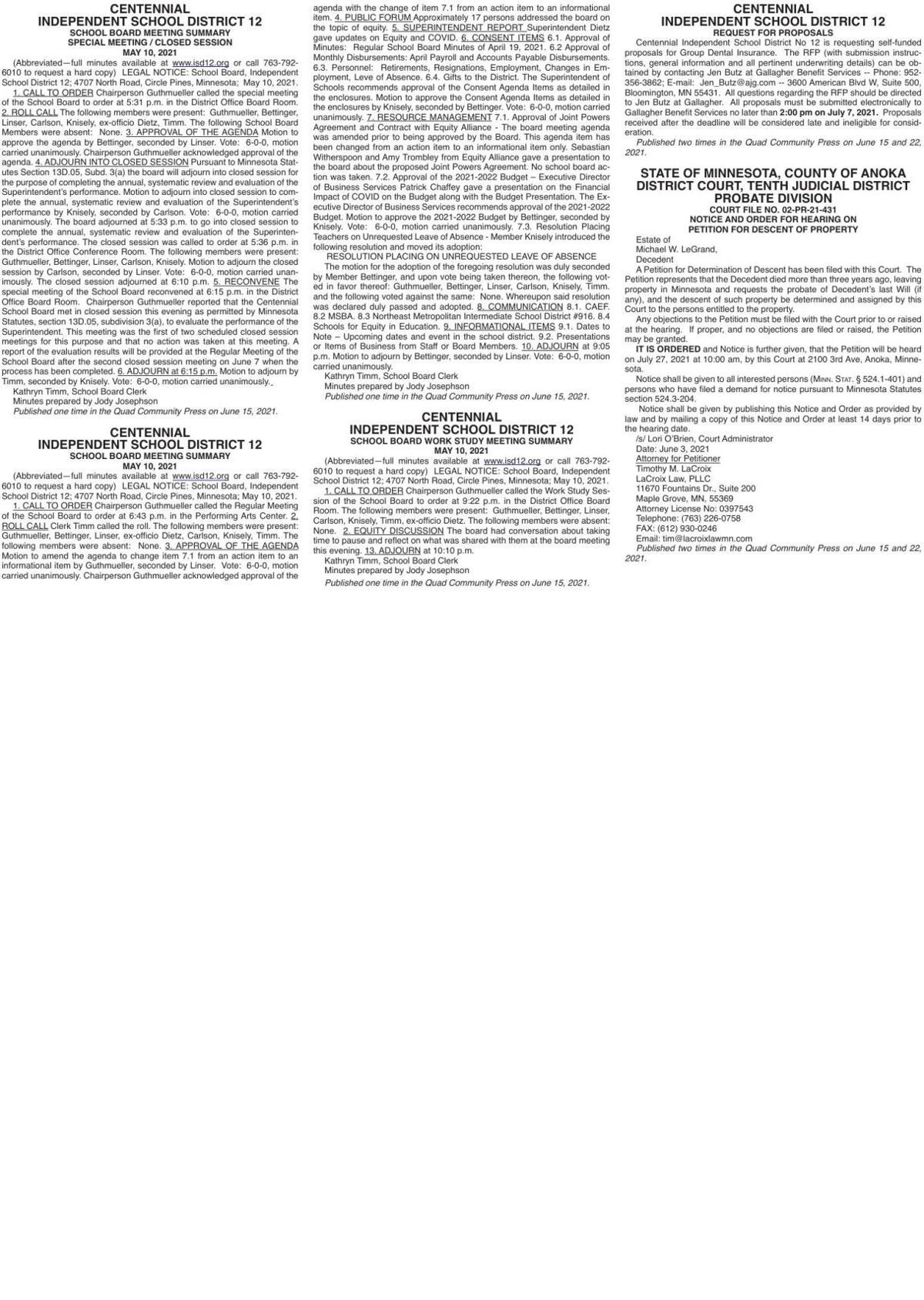 Legals Q 6-15-21