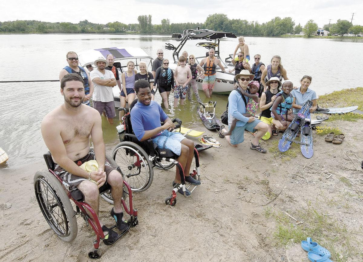 Volunteers from the Midwest Ski Otters Water Ski Team