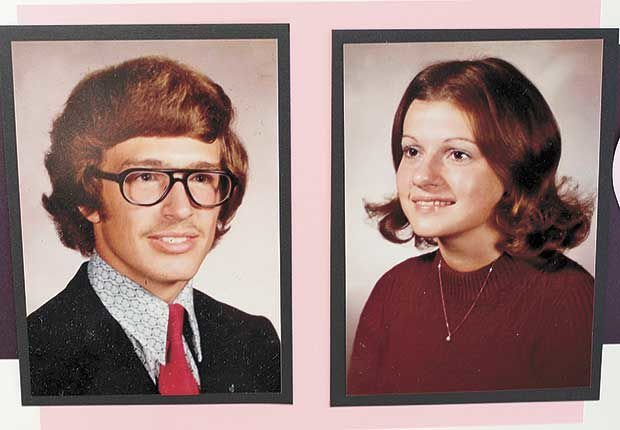High school sweethearts of 1973 just married, 46 years later