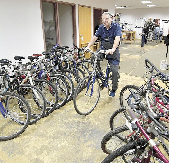 Volunteer group finds new homes for refurbished bikes
