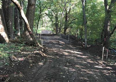 Trail work underway for perimeter path around White Bear Lake