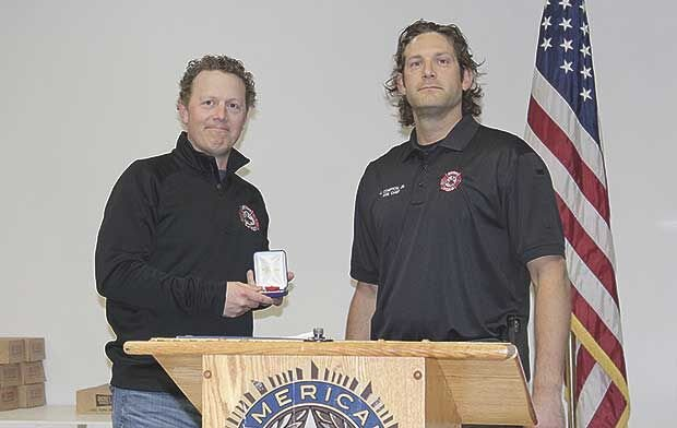 Hugo firefighters recognized for exemplary service