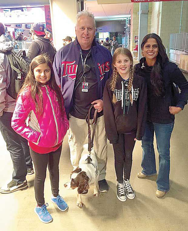 Lino dog springs to action at Target field