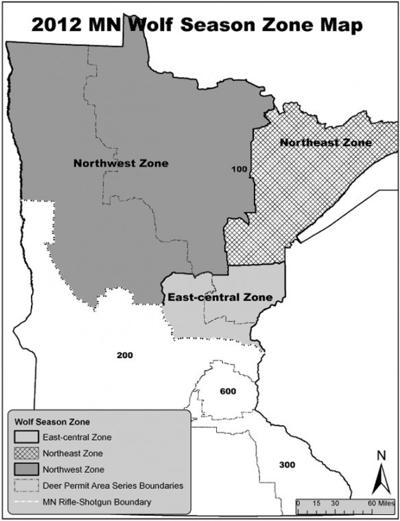 Wolf season zone map