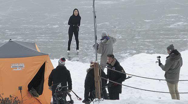 Olympian on (lake) ice