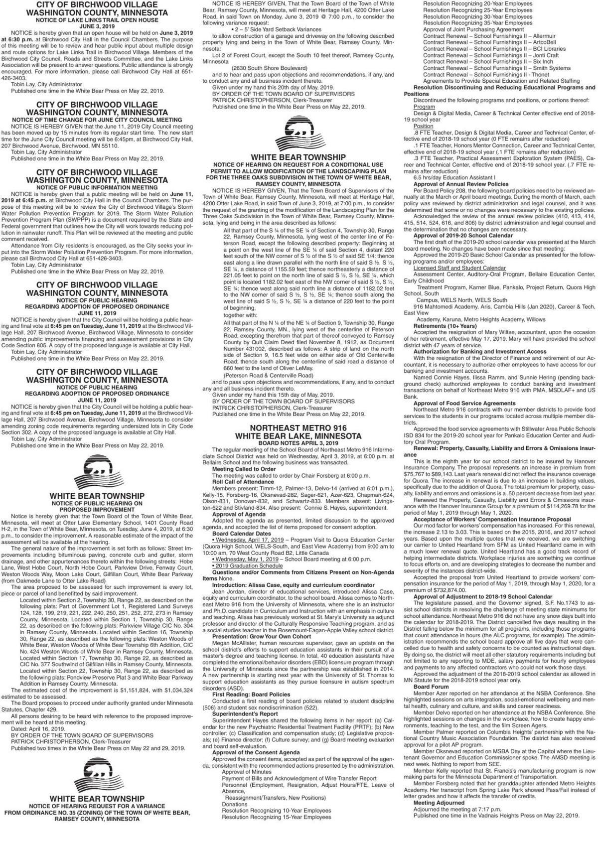 Legals WBVH 5-22-19