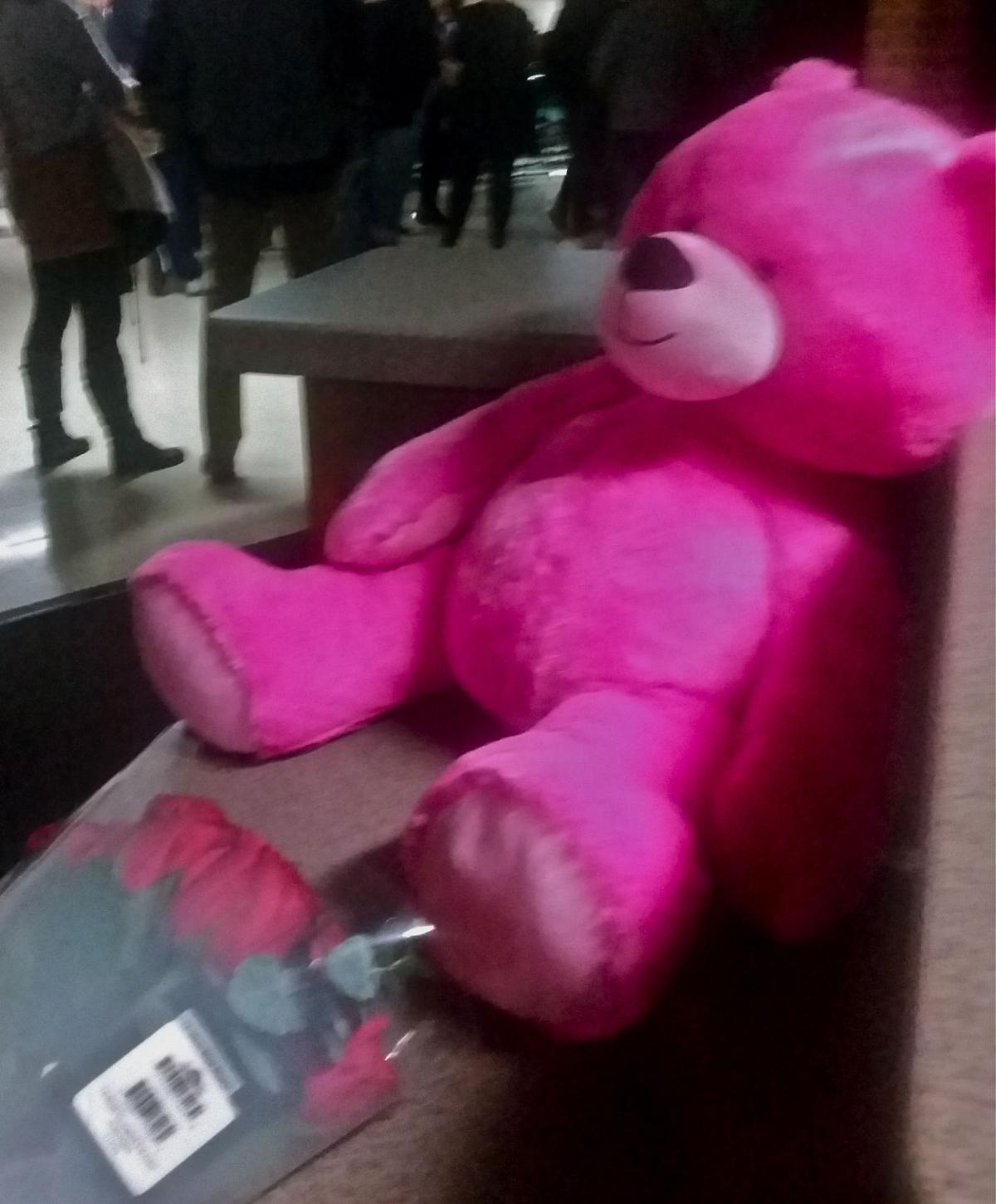 Teddy bears and flowers memorial planned for mustang students giant pink teddy mightylinksfo
