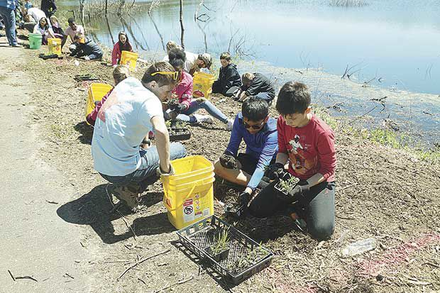 Students plant for the future of pollinators