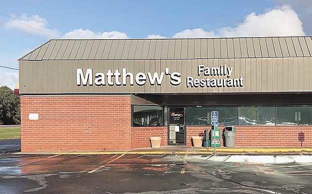 Matthew's Family Restaurant abruptly closes its doors