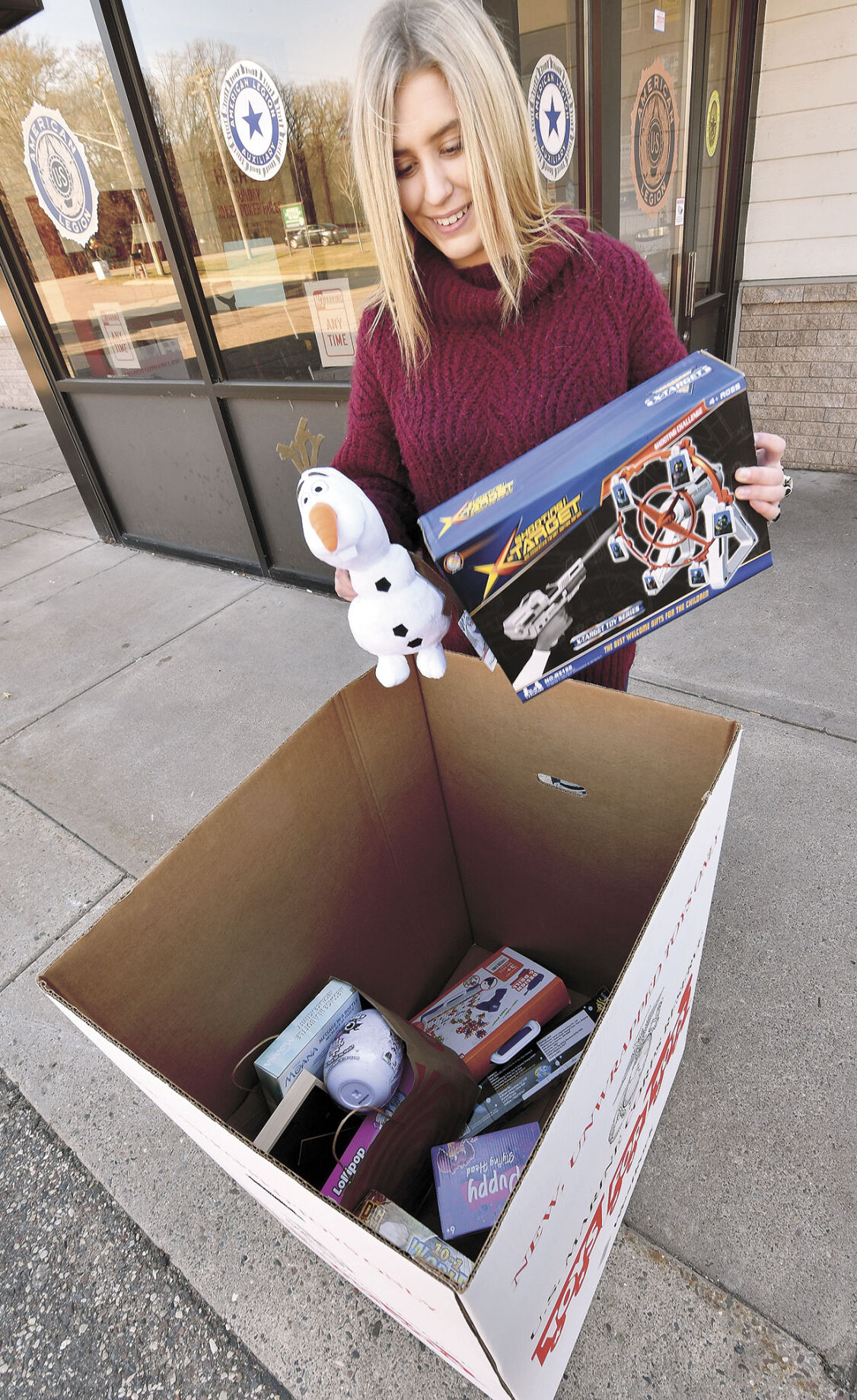 Collecting toys for children in need