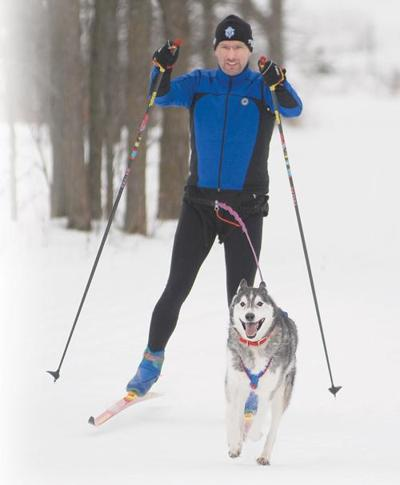 'Mr. Skijoring' takes to trails