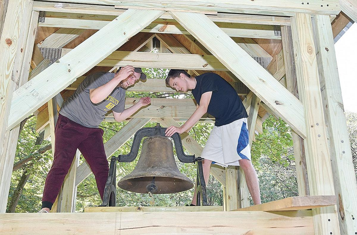 Future Eagle Scout gets bell rung in Birchwood