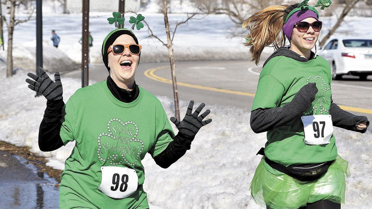 Shake your Shamrock runners display a touch of early spring green