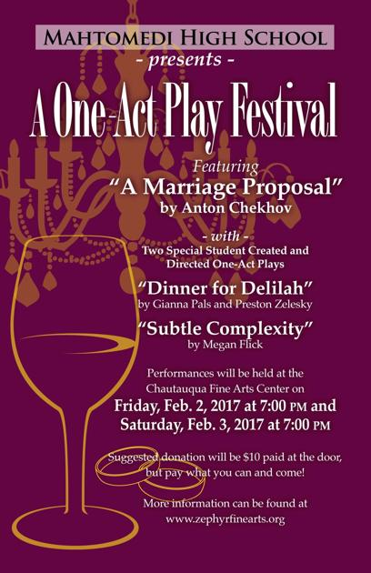 A Charming Evening Of One Act Plays Calendar Presspubs