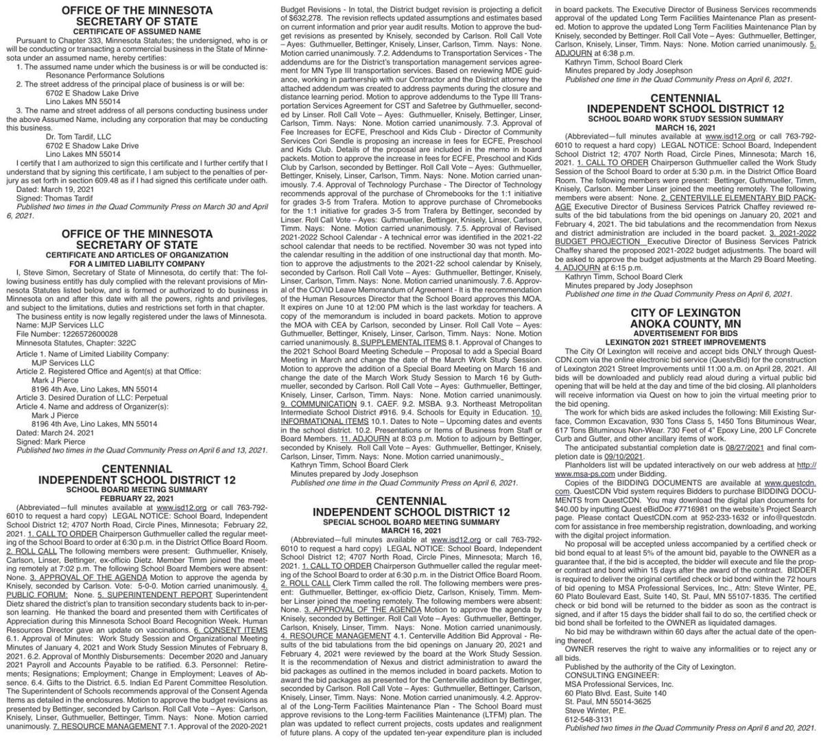 Legals Q 4-6-21