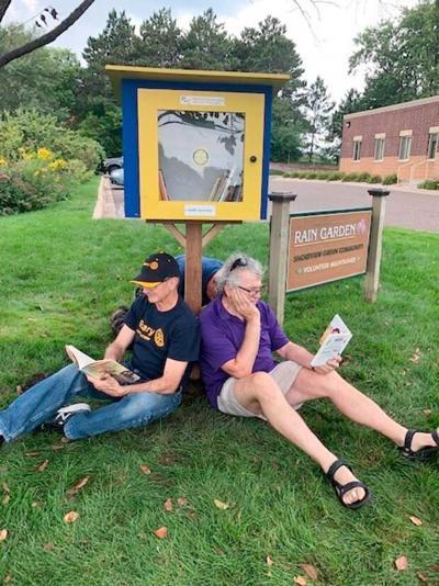 Little free libraries pop up around town