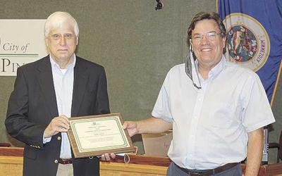 Mayor, council recognize former police chief